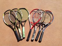 Tennis rackets - professional by Wilson, and Head in Yucca Valley, California