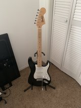 electric guitar with strap, case stand in Alamogordo, New Mexico