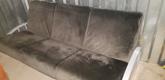 Like new Deluxe heavy duty Micro suede futon couch - in Fort Campbell, Kentucky