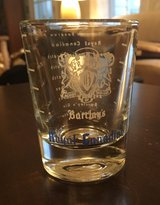 Vintage Barclay's Shot Glass in Naperville, Illinois