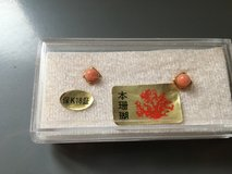 Coral earring in Okinawa, Japan
