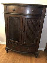 Tall wood dresser & matching nightstand in Chicago, Illinois