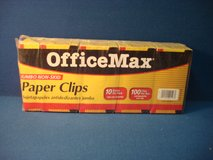 TWO SIZES OF OFFICE MAX PAPER CLIPS in Naperville, Illinois