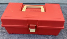 Lot 119 Red Extra Large Toolbox w/pullout tray in Bolingbrook, Illinois