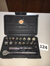 Lot 124 Ace Hardware 3/8 dr Ratchet Set Inch / Metric in Bolingbrook, Illinois