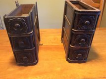 Antique sewing machine wooden drawers in Naperville, Illinois