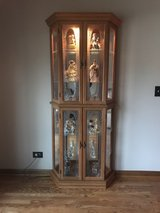 Lighted curio cabinet in Naperville, Illinois