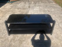 TV Stand, Three shelves, heavy duty, black, like new in Hinesville, Georgia