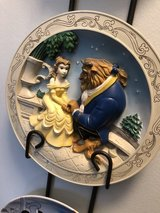 3 vintage Disney collector plates with wall holder in Naperville, Illinois