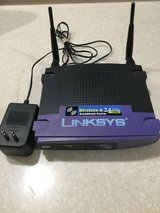 Wireless Router - Linksys Wireless-G 2.4 GHz w/ Power Cord - 4 Ethernet Ports. in Naperville, Illinois
