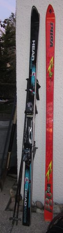 Man's skis in Stuttgart, GE