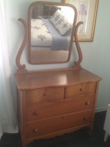 Antique dresser with mirror. in Bolingbrook, Illinois