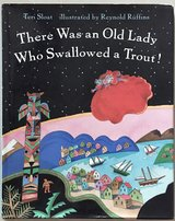 There Was an Old Lady Who Swallowed a Trout Hardcover in Okinawa, Japan