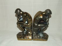 Vintage Rodin's David The Thinker Brass Bookends in Naperville, Illinois