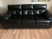 IKEA black leather couch in Wiesbaden, GE