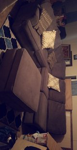 gray sectional couch l shaped in The Woodlands, Texas