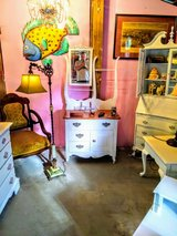 Chalk painted dresser with mirror in Camp Lejeune, North Carolina