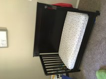 Toddler Bed brown/w mattress in Fort Campbell, Kentucky