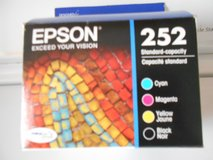 Authentic EPSON 252 INK CARTRIDGES Cyan-Magenta-Yellow-Black in Chicago, Illinois