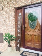 wooden porch signs in Chicago, Illinois