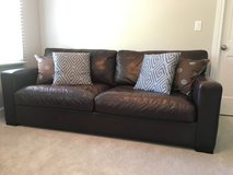 Crate and Barrel Leather Couch in Bolingbrook, Illinois
