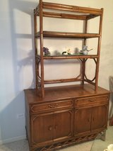 Rattan Dining Room Cabinet in Chicago, Illinois