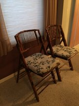 Rattan Folding 2 Chairs in Chicago, Illinois
