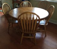 Oak Pedastal table with leaf (no chairs) in Chicago, Illinois