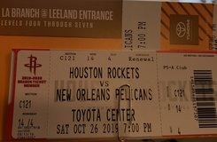 Houston Rockets vs New Orleans Pelicans in The Woodlands, Texas