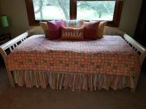 Daybed frame and bedding in Bolingbrook, Illinois
