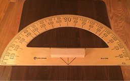 Large Wooden Protractor in Joliet, Illinois