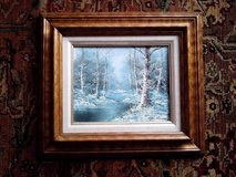 "OIL PAINTING ON CANVAS WITH GORGEOUS WOOD FRAME, 17"" BY 15"" in Tinley Park, Illinois"
