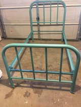 Old metal twin bed in Fort Campbell, Kentucky