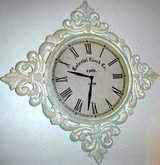 Shabby Chic Colonial Clock Co. Ceramic Wall Clock ~ Home Decor in Bolingbrook, Illinois