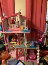 large Barbie Dollhouse with multiple accessories in Joliet, Illinois