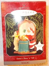 hallmark keepsake ornament santa's show & tell 1998 features lights up in Clarksville, Tennessee