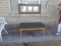 bench with mirror in Alamogordo, New Mexico