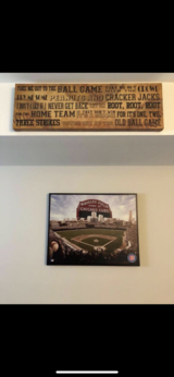 Chicago Cubs Wall Canvas Art in Chicago, Illinois