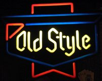 Old Style Beer Sign in Fort Campbell, Kentucky