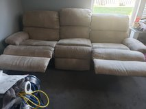 suede reclining couch in Joliet, Illinois