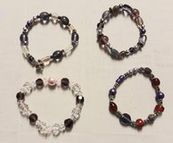 Purple handmade stretch bracelets in Westmont, Illinois