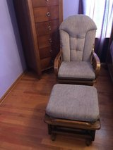Rocker glider with  ottoman in Joliet, Illinois