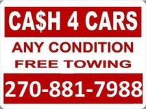 Cash For Cars in Clarksville, Tennessee
