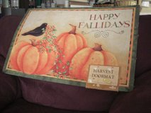 Happy Fallidays Harvest Door Mat in Fort Lewis, Washington