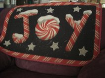 J O Y Snow-Covered Letters Christmas Door Mat in Tacoma, Washington