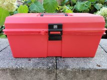 Red tackle box in Plainfield, Illinois