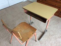 Vintage school desk and chair in Yorkville, Illinois