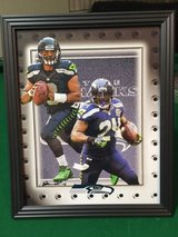 *** SEAHAWKS - Wilson & Lynch 8x10 framed print Lithograph *** (NEW) in Fort Lewis, Washington