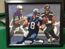 ** SEAHAWKS - Hasselbeck, Wilson (print #1) & Zorn 8x10 framed Lithograph **(NEW) in Fort Lewis, Washington