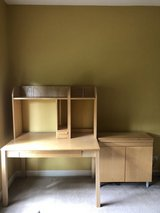 IKEA desk and cabinet- like new in Naperville, Illinois